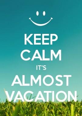ceep kalm over 3 weken vakantie